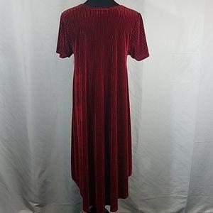 LuLaRoe Dresses - SOLD LuLaroe Elegant Red Ribbed Carly